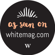 White magazine logo