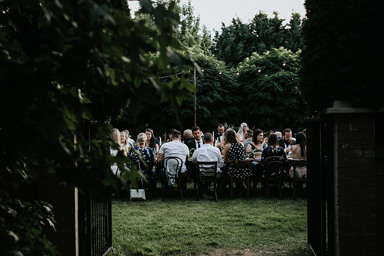 outdoor wedding reception photography canberra