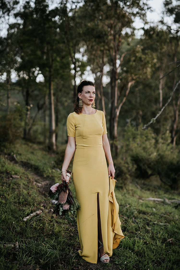 yellow wedding dress sant elia