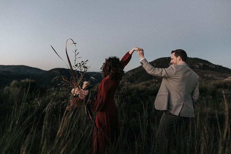 blue mountains engagement photography