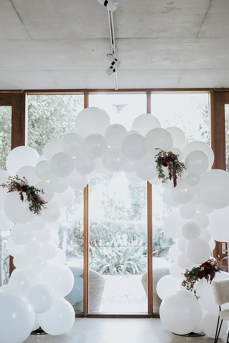 balloon arbour wedding