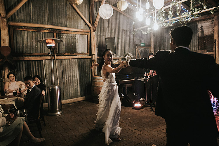 rustic barn wedding reception venue at collits inn hartley blue mountains